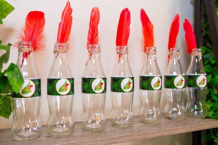 Peter Pan Drink Bottles from a Peter Pan in Neverland First Birthday Party on Kara's Party Ideas | KarasPartyIdeas.com (27)