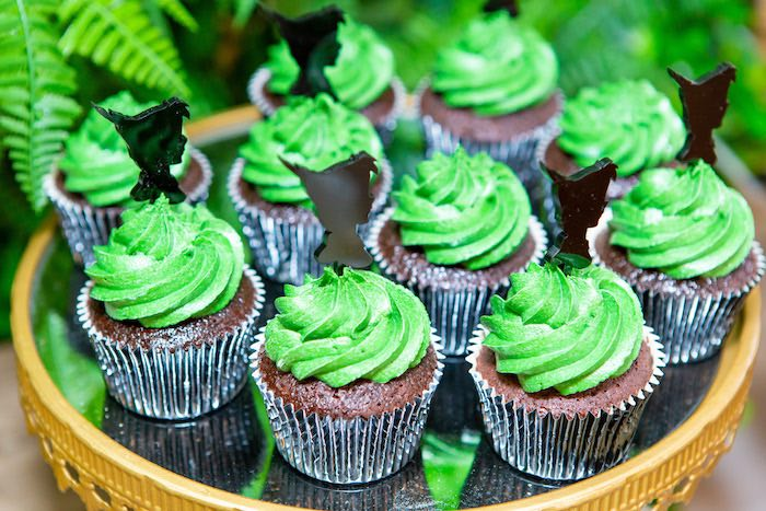Peter Pan Cupcakes from a Peter Pan in Neverland First Birthday Party on Kara's Party Ideas | KarasPartyIdeas.com (23)
