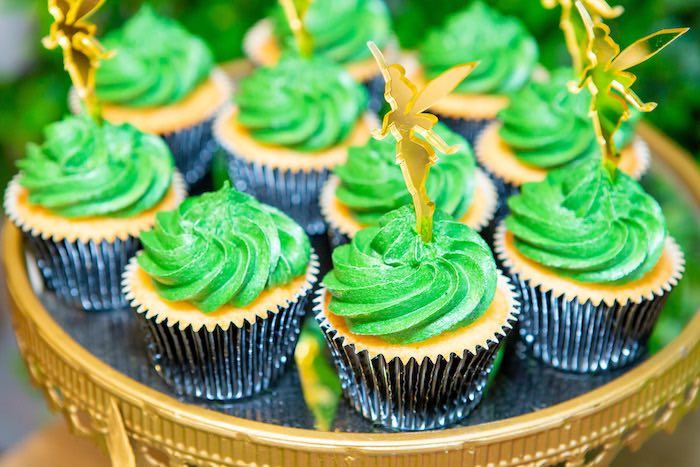 Tinkerbell Cupakes from a Peter Pan in Neverland First Birthday Party on Kara's Party Ideas | KarasPartyIdeas.com (22)