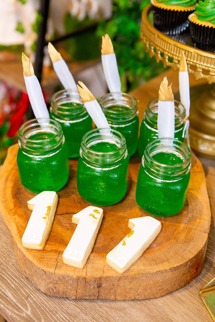 Peter Pan Jello from a Peter Pan in Neverland First Birthday Party on Kara's Party Ideas | KarasPartyIdeas.com (21)