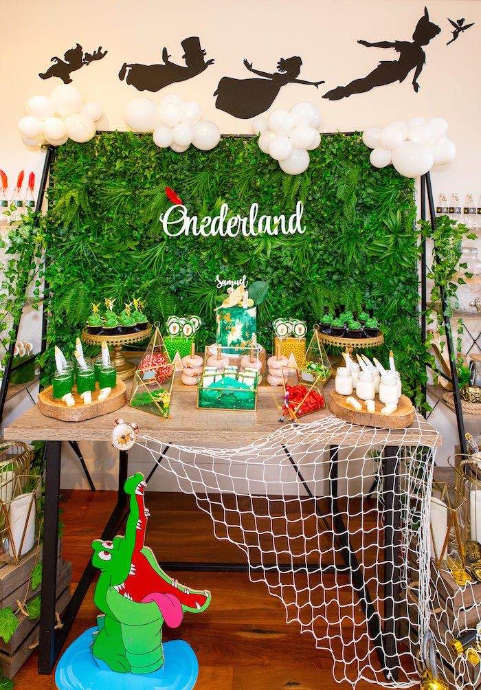 Peter Pan in Neverland First Birthday Party on Kara's Party Ideas | KarasPartyIdeas.com (42)