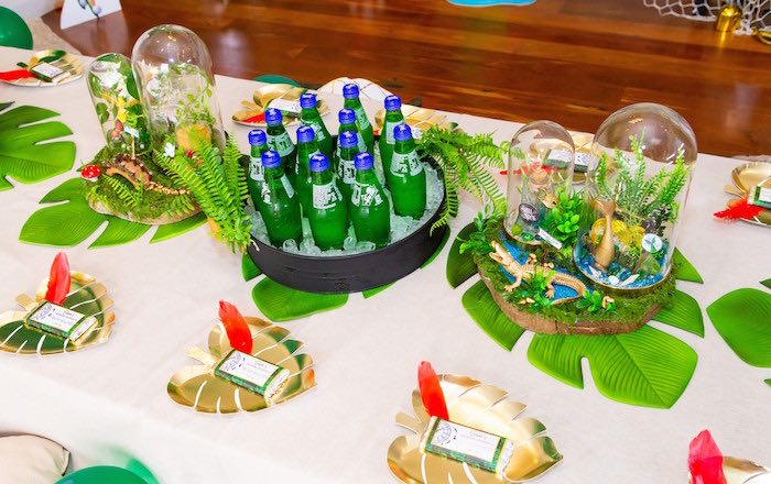 Peter Pan Party Table from a Peter Pan in Neverland First Birthday Party on Kara's Party Ideas | KarasPartyIdeas.com (14)