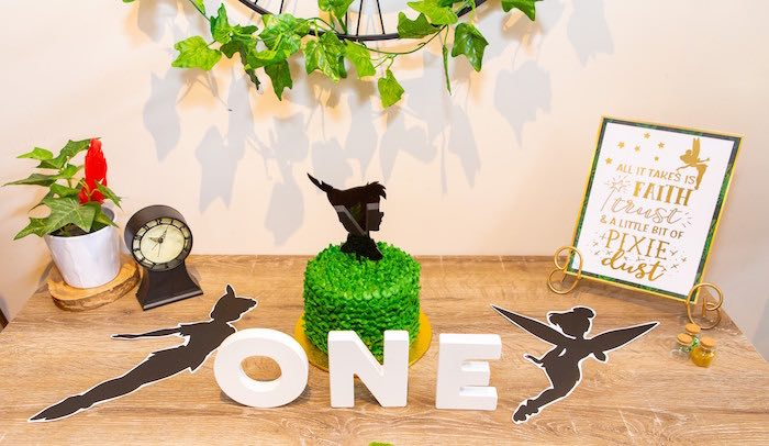Peter Pan Cake from a Peter Pan in Neverland First Birthday Party on Kara's Party Ideas | KarasPartyIdeas.com (12)