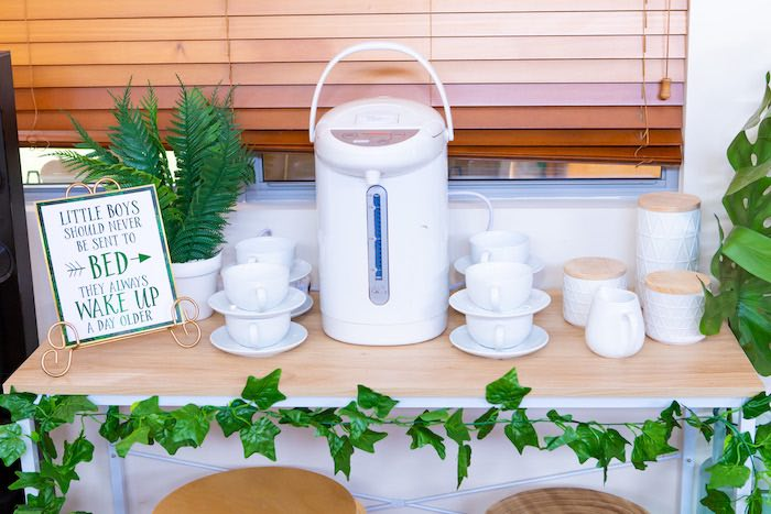 Beverage Table from a Peter Pan in Neverland First Birthday Party on Kara's Party Ideas | KarasPartyIdeas.com (10)