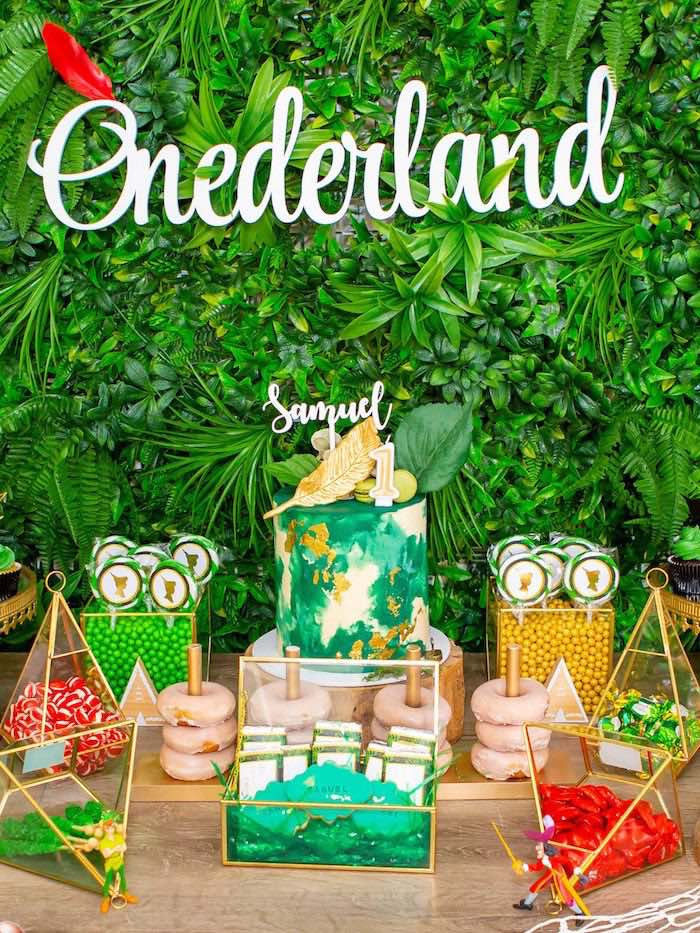 Peter Pan Dessert Table from a Peter Pan in Neverland First Birthday Party on Kara's Party Ideas | KarasPartyIdeas.com (5)