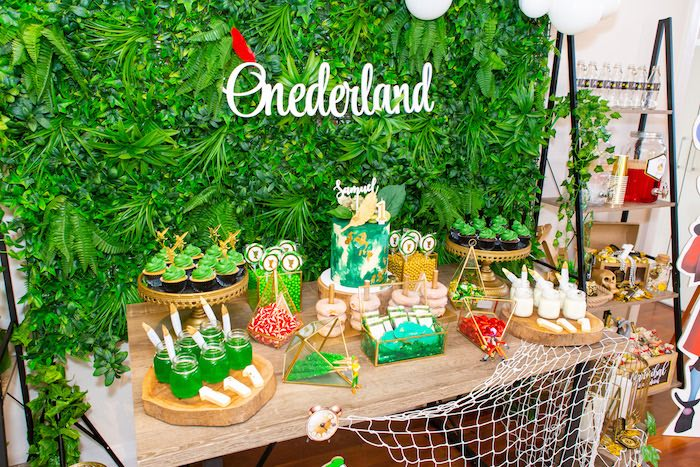 Peter Pan Dessert Table from a Peter Pan in Neverland First Birthday Party on Kara's Party Ideas | KarasPartyIdeas.com (40)