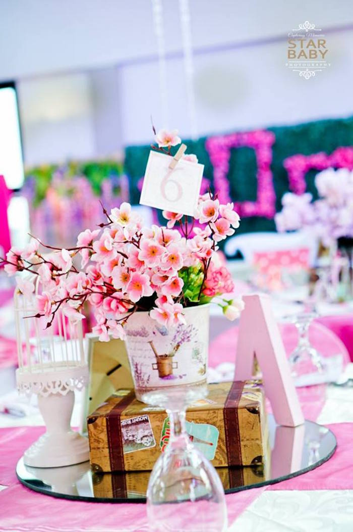 Pink Cherry Blossom Christening Party on Kara's Party Ideas | KarasPartyIdeas.com (18)