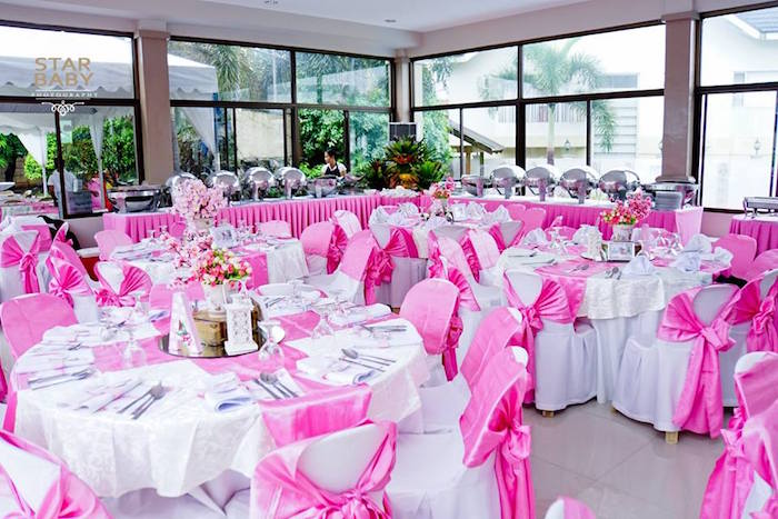 Pink Cherry Blossom Christening Party on Kara's Party Ideas | KarasPartyIdeas.com (17)