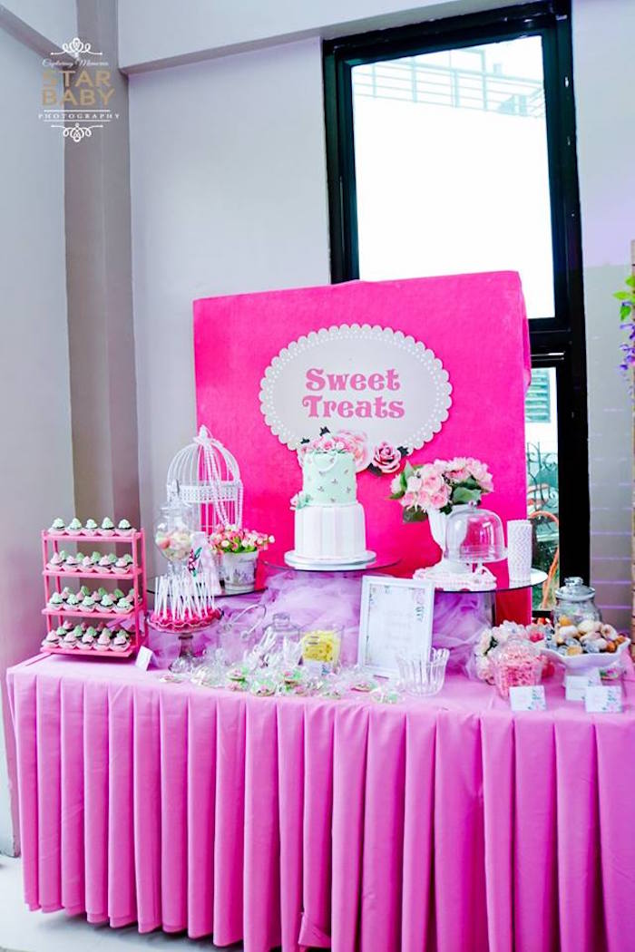 Karas Party Ideas Pink Cherry Blossom Christening Party Karas