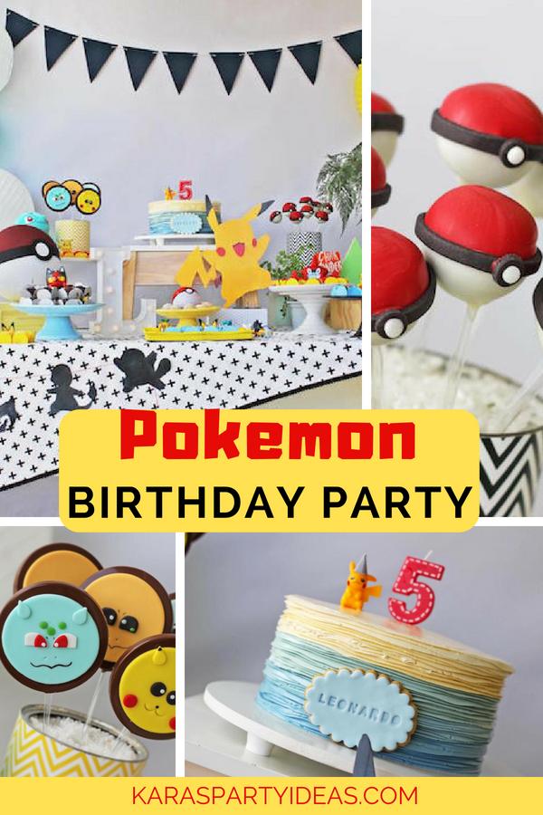 Pokemon Birthday Party via Kara_s Party Ideas - KarasPartyIdeas.com