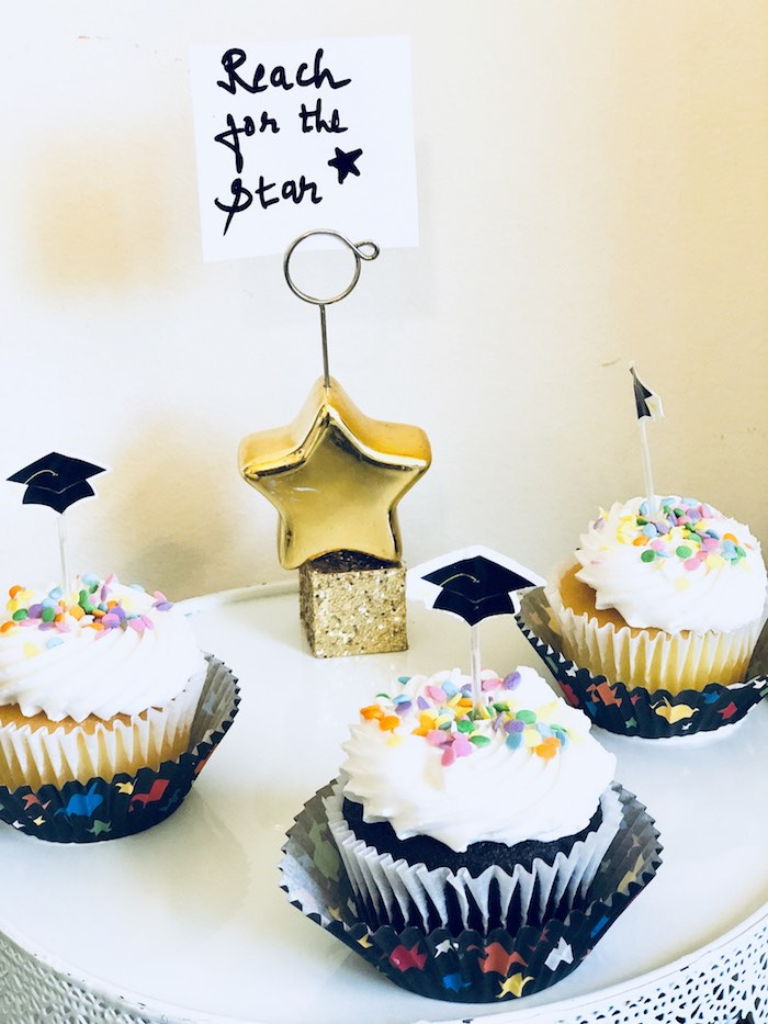 Graduation Cupcakes from a Preschool Graduation Party on Kara's Party Ideas | KarasPartyIdeas.com (15)