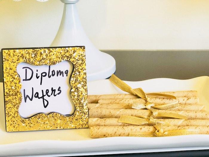 Diploma Wafers from a Preschool Graduation Party on Kara's Party Ideas | KarasPartyIdeas.com (12)