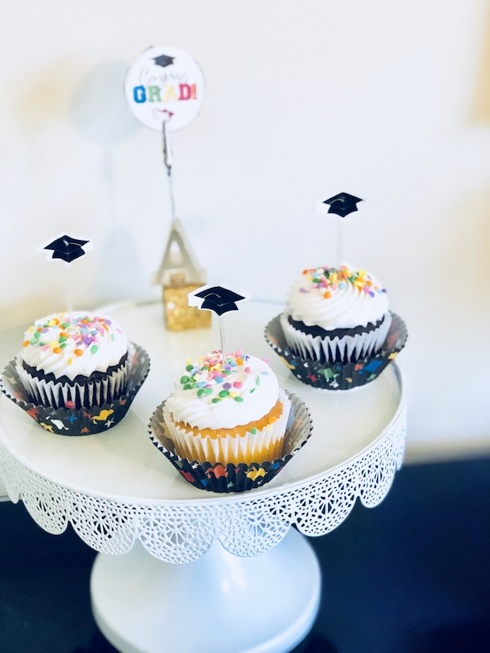 Graduation Cupcakes from a Preschool Graduation Party on Kara's Party Ideas | KarasPartyIdeas.com (10)