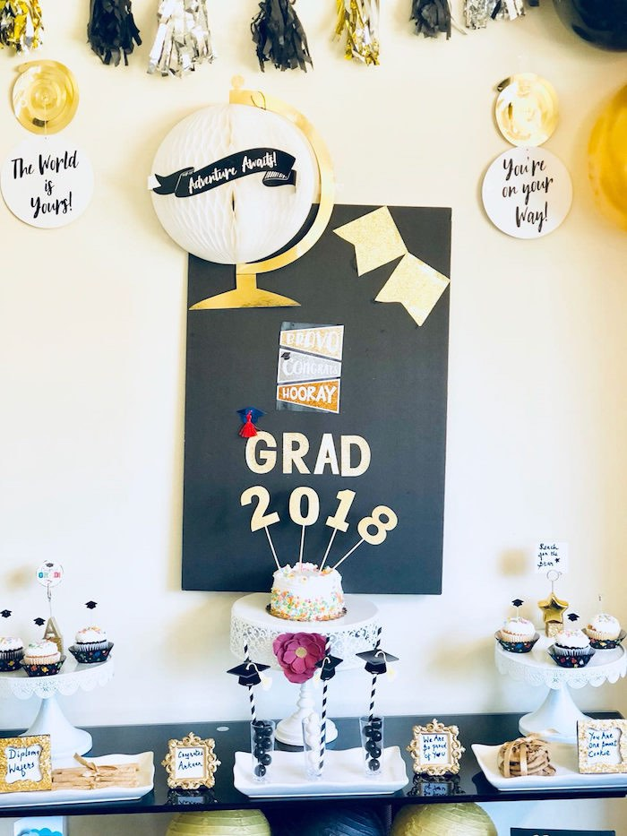 Graduation Party Table from a Preschool Graduation Party on Kara's Party Ideas | KarasPartyIdeas.com (9)