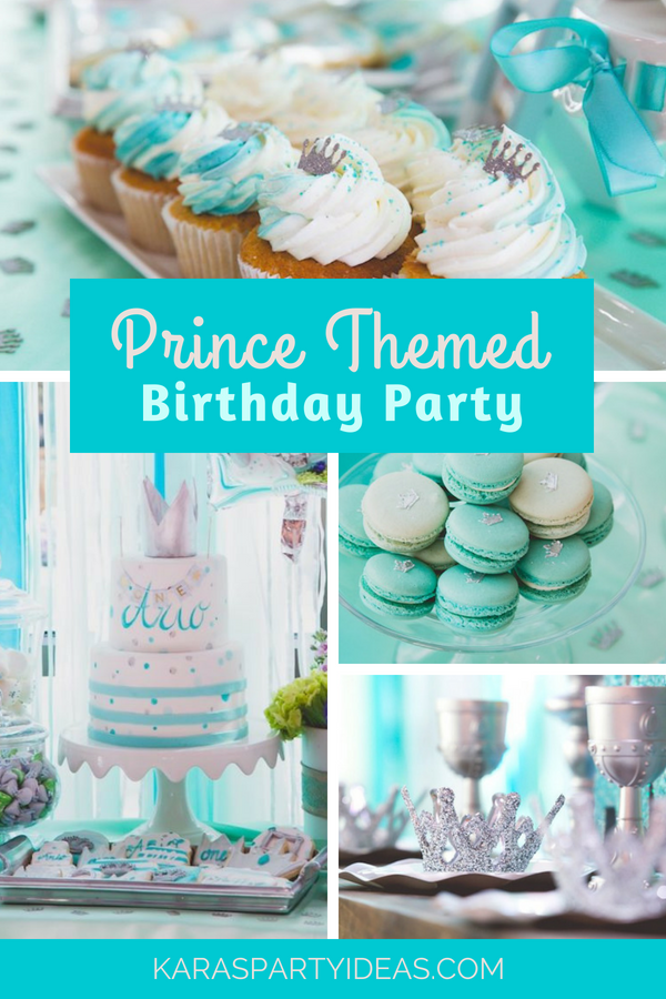 Prince Themed Birthday Party via Kara_s Party Ideas - KarasPartyIdeas.com
