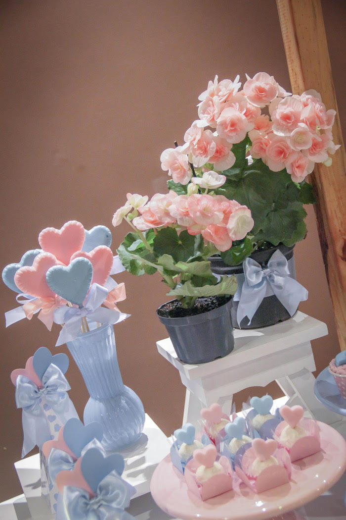 Blooms from a Raindrop Themed Gender Reveal Party on Kara's Party Ideas | KarasPartyIdeas.com (8)