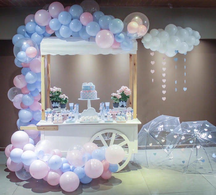 Raindrop Themed Gender Reveal Party on Kara's Party Ideas   KarasPartyIdeas.com (6)