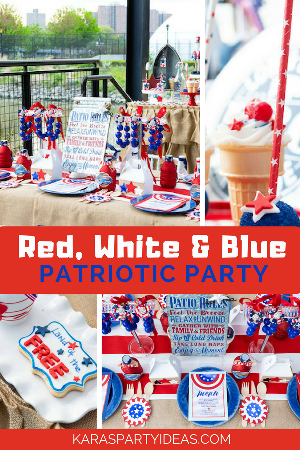 Red White and Blue Patriotic Party via Kara's Party Ideas - KarasPartyIdeas.com