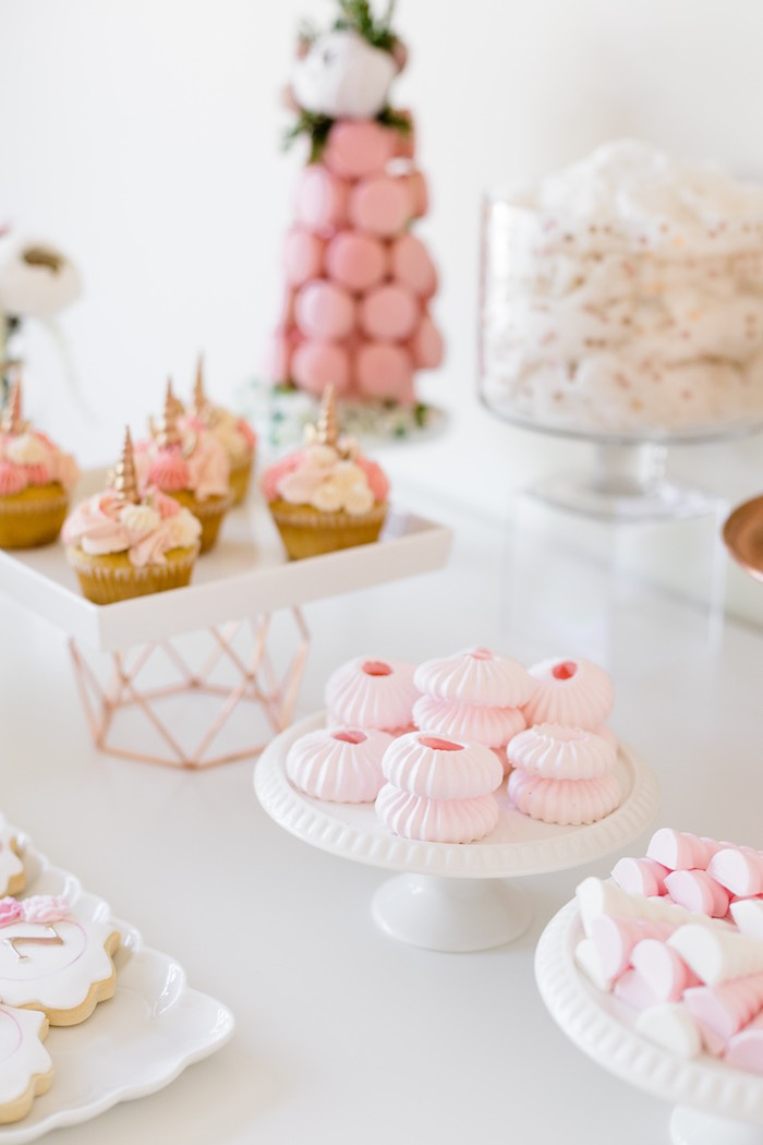 Sweets from a Rose Gold & Blush Pink Unicorn Party on Kara's Party Ideas | KarasPartyIdeas.com (35)