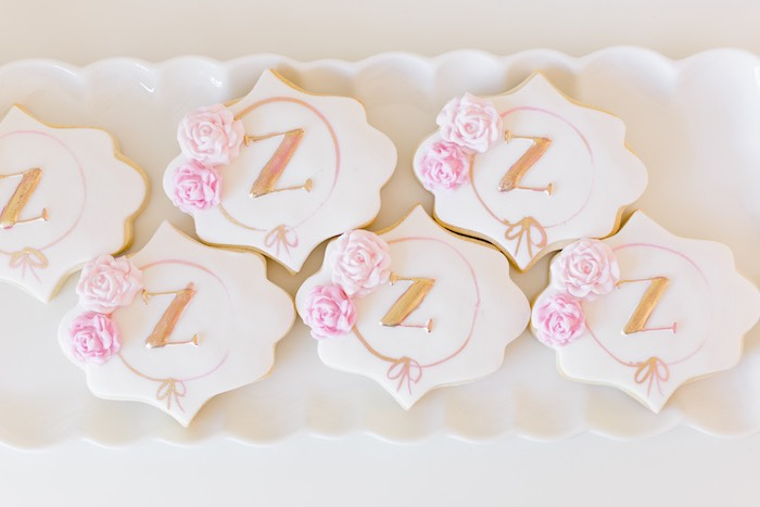 Cookies from a Rose Gold & Blush Pink Unicorn Party on Kara's Party Ideas | KarasPartyIdeas.com (34)