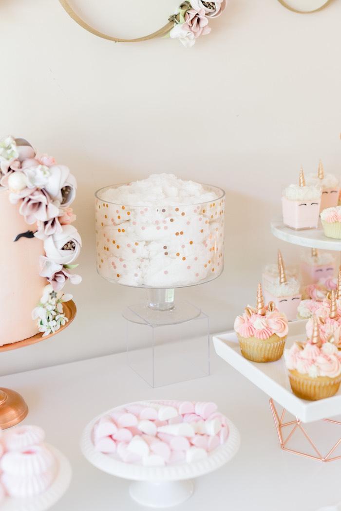 kara u0026 39 s party ideas rose gold  u0026 blush pink unicorn party