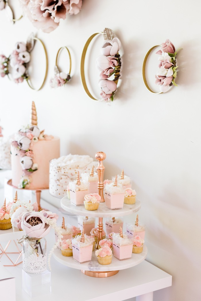 Rose Gold & Blush Pink Unicorn Party on Kara's Party Ideas | KarasPartyIdeas.com (31)