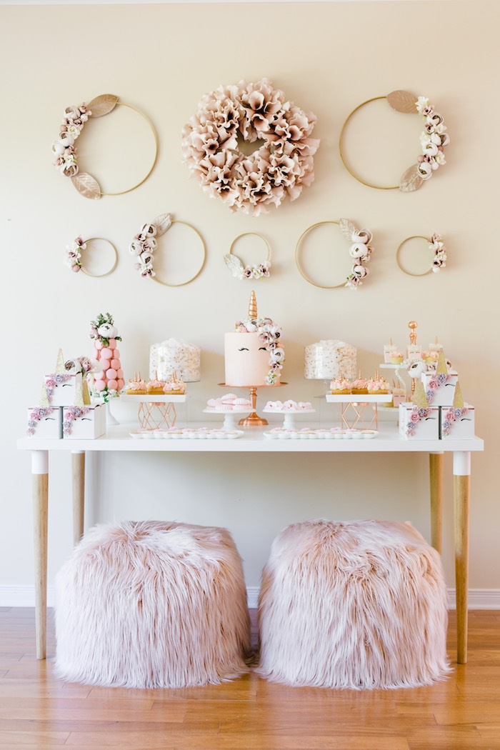 Rose Gold & Blush Pink Unicorn Party on Kara's Party Ideas | KarasPartyIdeas.com (44)