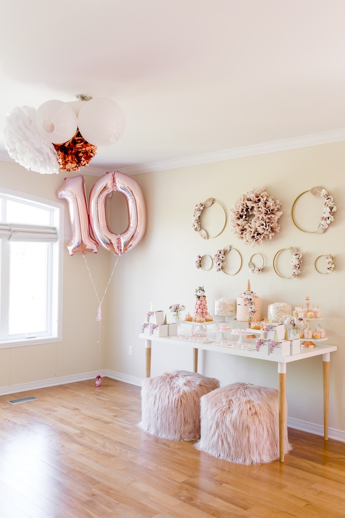 Rose Gold & Blush Pink Unicorn Party on Kara's Party Ideas | KarasPartyIdeas.com (42)