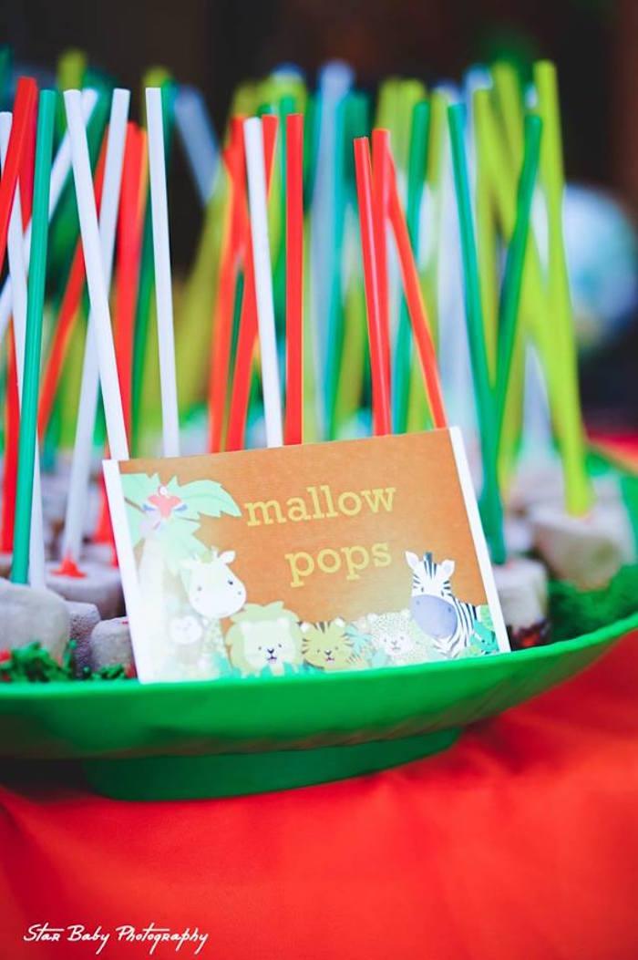 Safari Mallow Pops from a Safari Adventure Birthday Party on Kara's Party Ideas | KarasPartyIdeas.com (14)