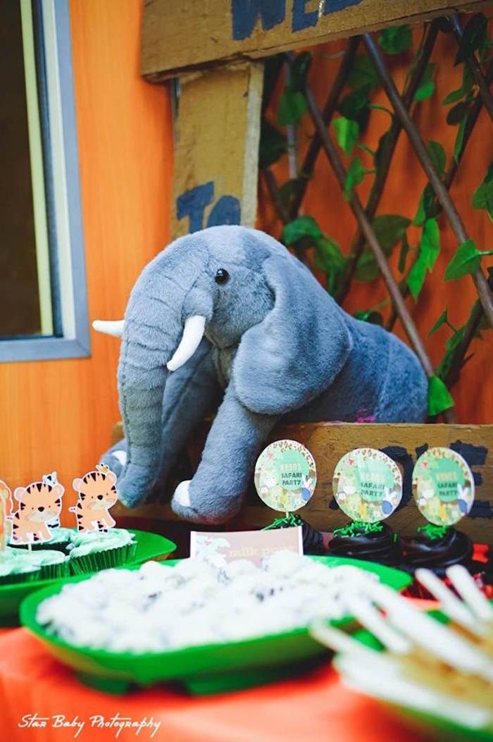 Plush Elephant from a Safari Adventure Birthday Party on Kara's Party Ideas | KarasPartyIdeas.com (7)