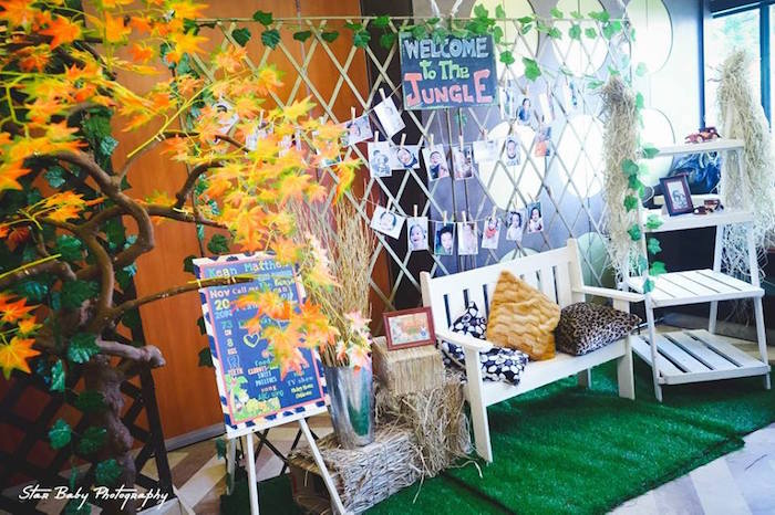 Jungle Lounge from a Safari Adventure Birthday Party on Kara's Party Ideas | KarasPartyIdeas.com (18)