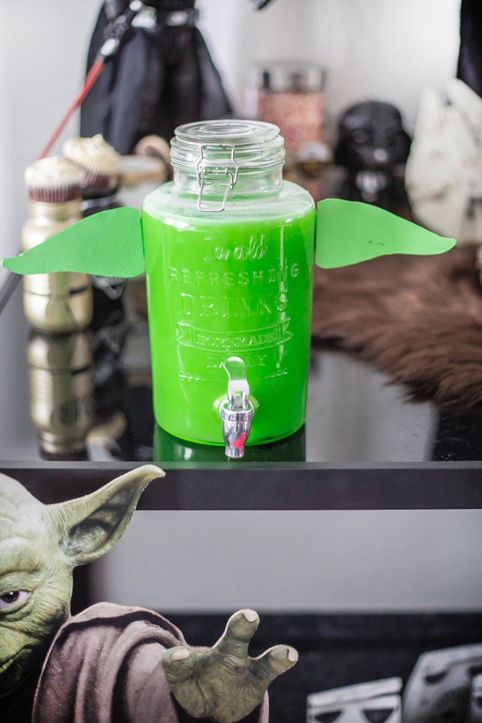Yoda Beverage Dispenser from a Star Wars Birthday Party on Kara's Party Ideas | KarasPartyIdeas.com (7)