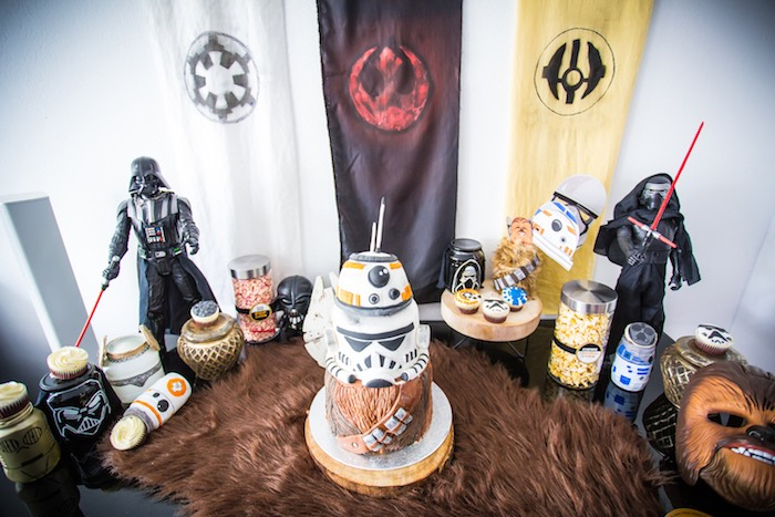 Star Wars-inspired Sweet Table from a Star Wars Birthday Party on Kara's Party Ideas | KarasPartyIdeas.com (6)