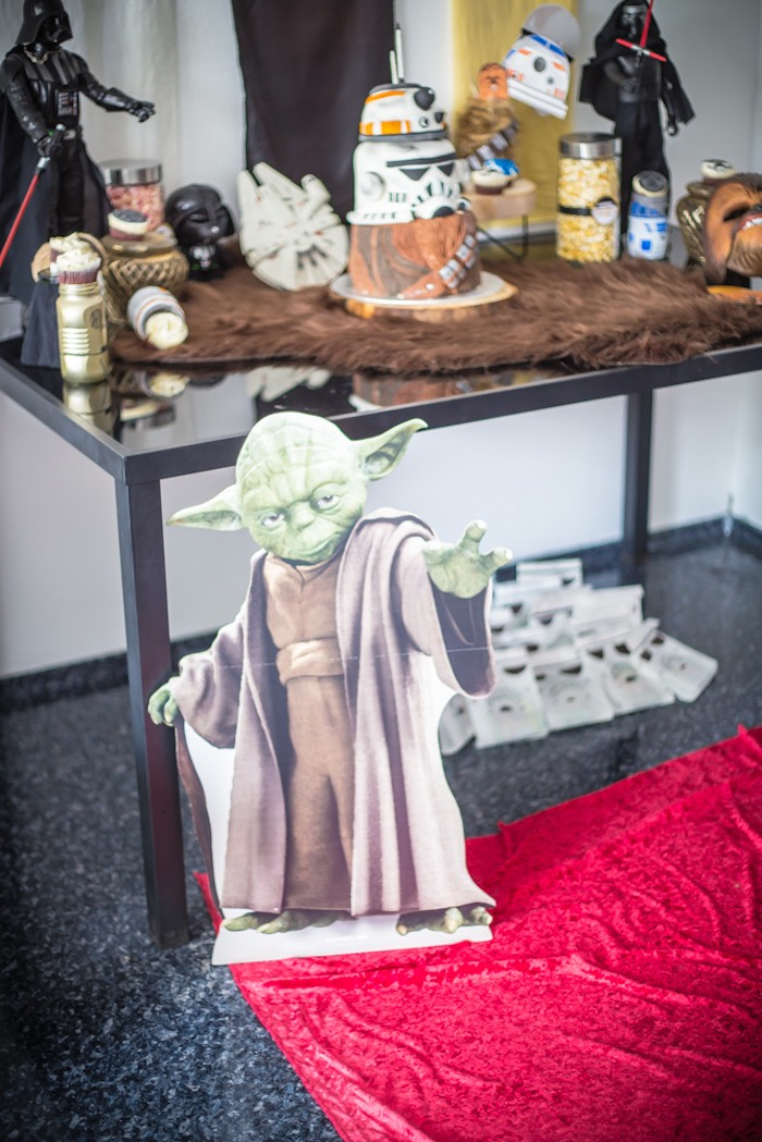 Yoda Standee from a Star Wars Birthday Party on Kara's Party Ideas | KarasPartyIdeas.com (5)