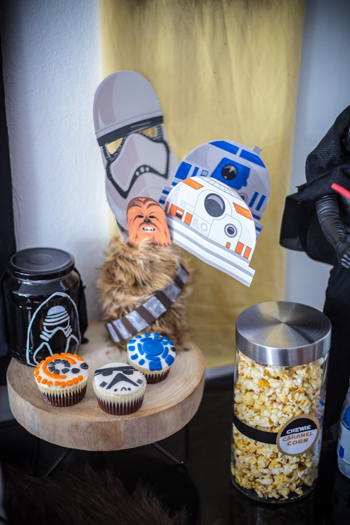 Stars Wars Cupcakes + Photo Props from a Star Wars Birthday Party on Kara's Party Ideas | KarasPartyIdeas.com (4)