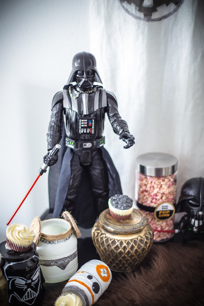 Darth Vader Dessert Table from a Star Wars Birthday Party on Kara's Party Ideas | KarasPartyIdeas.com (3)