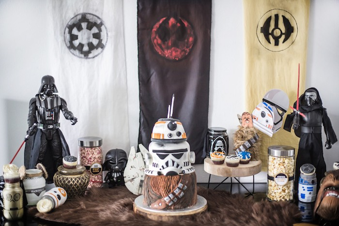 Star Wars-inspired Cake Table from a Star Wars Birthday Party on Kara's Party Ideas | KarasPartyIdeas.com (18)