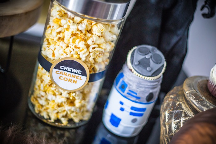 Chewie Caramel Corn from a Star Wars Birthday Party on Kara's Party Ideas | KarasPartyIdeas.com (10)