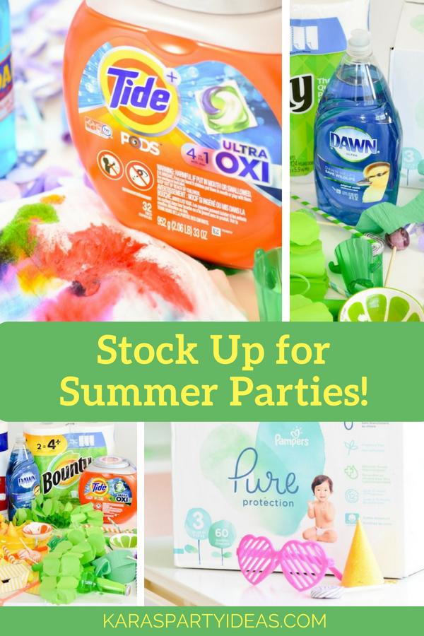 Stock Up for Summer Parties via Kara_s Party Ideas - KarasPartyIdeas.com