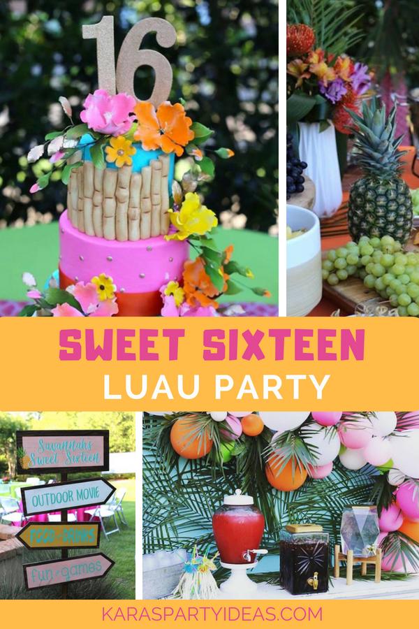 Sweet 16 Luau via Kara_s Party Ideas - KarasPartyIdeas.com