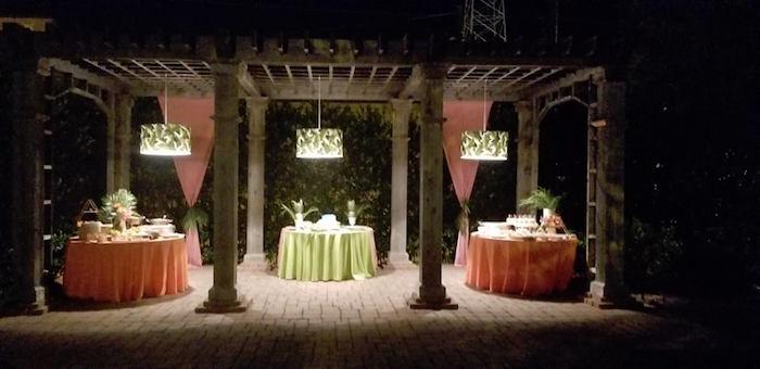 Tropical Party Tables from a Sweet 16 Luau on Kara's Party Ideas | KarasPartyIdeas.com (9)