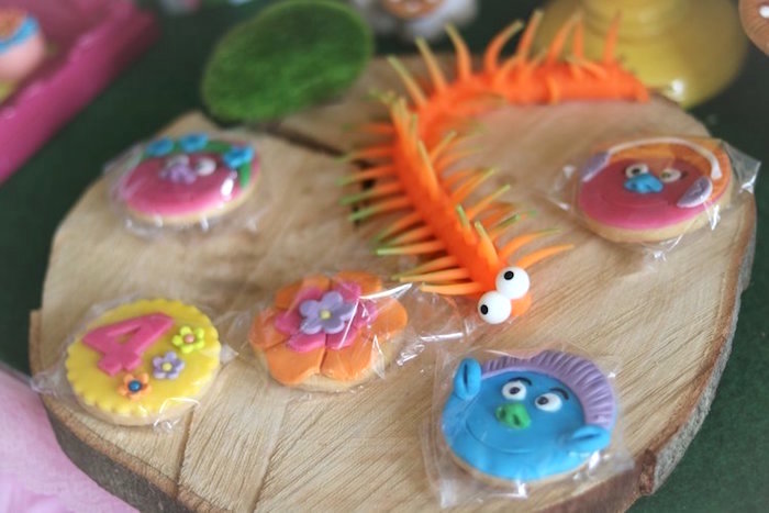 Trolls Themed Cookies from a Trolls Birthday Party on Kara's Party Ideas | KarasPartyIdeas.com (5)
