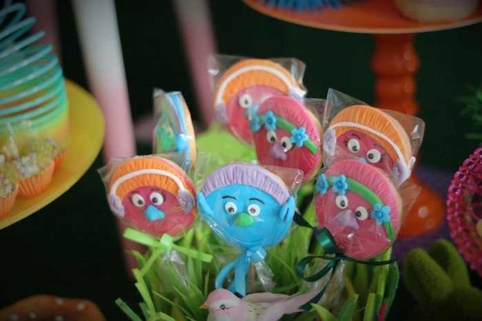 Trolls Character Pops from a Trolls Birthday Party on Kara's Party Ideas | KarasPartyIdeas.com (4)