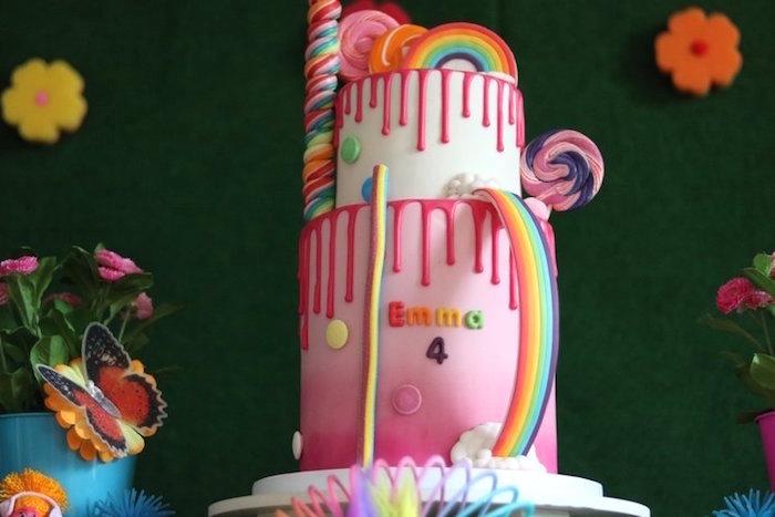Poppy-inspired Trolls Cake from a Trolls Birthday Party on Kara's Party Ideas | KarasPartyIdeas.com (15)