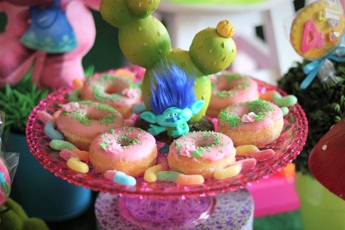 Doughnut Platter from a Trolls Birthday Party on Kara's Party Ideas | KarasPartyIdeas.com (12)