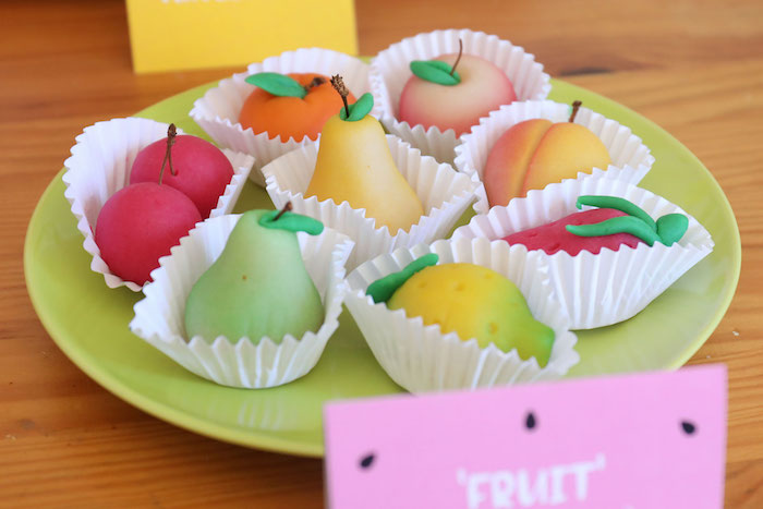 Fruit Shaped Almond Cakes from a Two-tti Frutti Birthday Party on Kara's Party Ideas | KarasPartyIdeas.com (11)