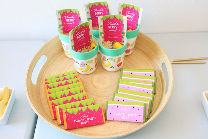 Fruity Favors from a Two-tti Frutti Birthday Party on Kara's Party Ideas | KarasPartyIdeas.com (5)