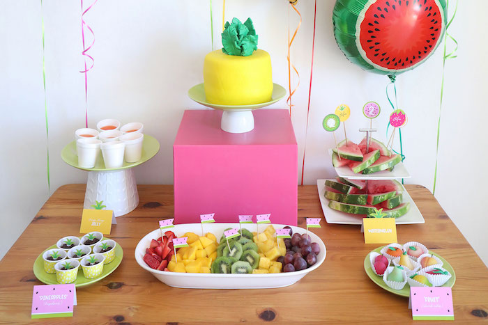 Tuitti Frutti Treat Table from a Two-tti Frutti Birthday Party on Kara's Party Ideas | KarasPartyIdeas.com (20)