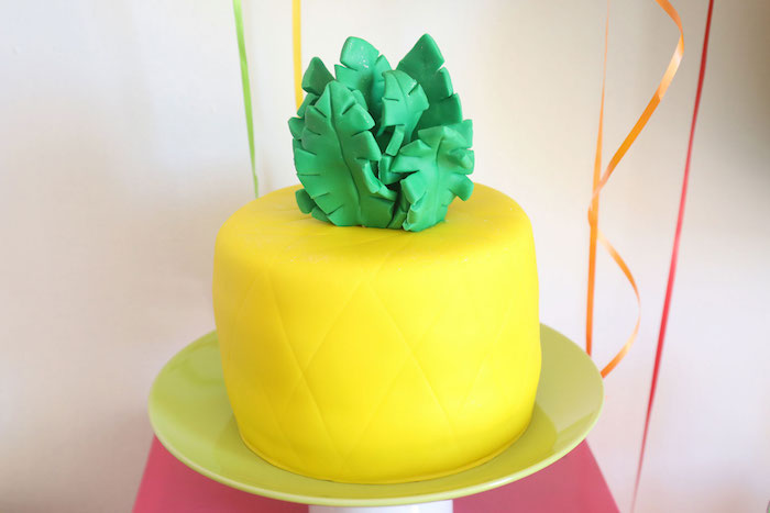 Pineapple Cake from a Two-tti Frutti Birthday Party on Kara's Party Ideas | KarasPartyIdeas.com (18)
