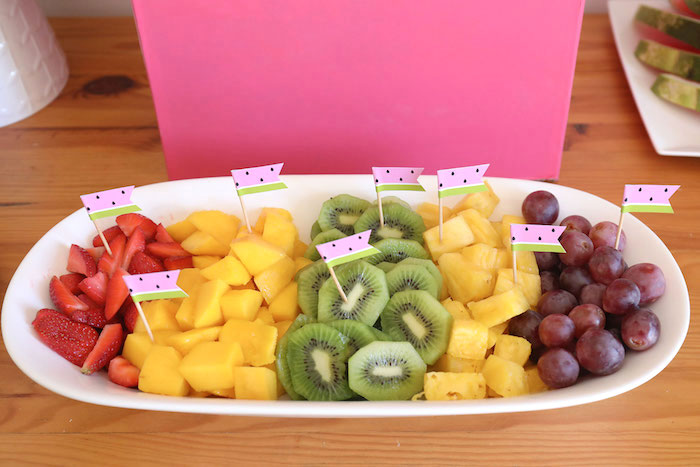 Fresh Fruit Plate from a Two-tti Frutti Birthday Party on Kara's Party Ideas | KarasPartyIdeas.com (17)